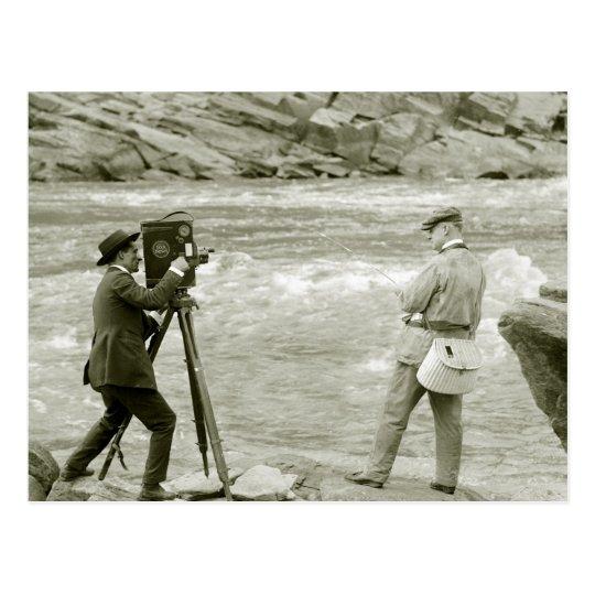 Pesca con mosca, 1918 postal