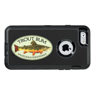 Pesca con mosca chistosa del vago de la trucha de funda OtterBox defender para iPhone 6
