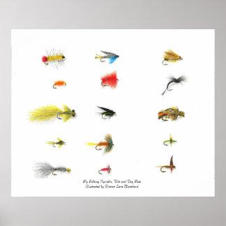 Pesca con mosca, ninfas de la pesca con mosca, la  póster
