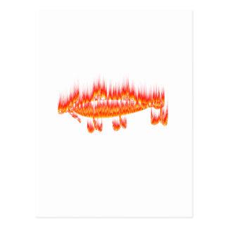 Pesca de diseño de la llama del señuelo postal