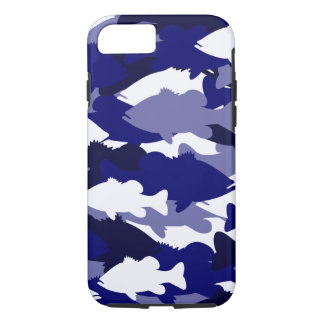 Pesca de la lubina azul de Camo Funda Para iPhone 8/7