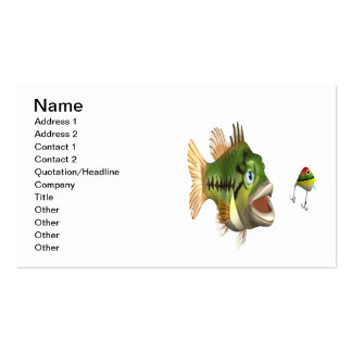 Pesca de la lubina tarjetas de visita