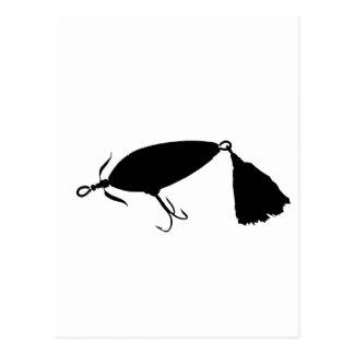 Pesca de la silueta a del señuelo 1 postal