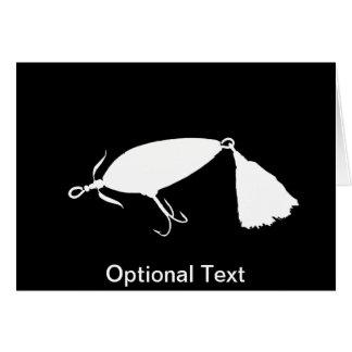 Pesca de la silueta b del señuelo 1 tarjeta de felicitación