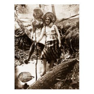Pesca de la trucha - tarjeta de Stereoview del Postal