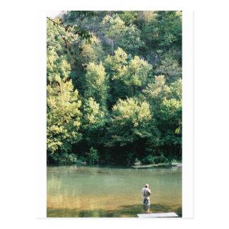 Pesca de la trucha tarjetas postales