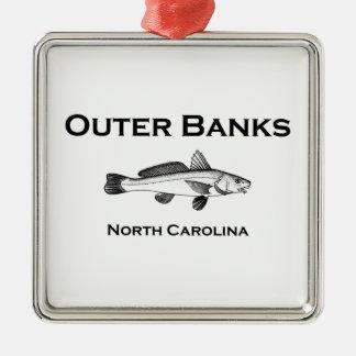 Pesca de resaca de Outer Banks Carolina del Norte Adorno De Cerámica