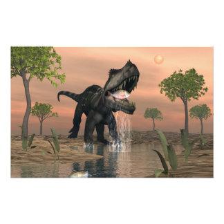 Pesca del dinosaurio de Prestosuchus - 3D rinden Papelería