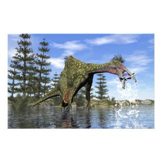 Pesca del dinosaurio del Deinocheirus - 3D rinden Papelería