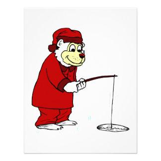 Pesca del hielo del oso polar en pijamas comunicados personales