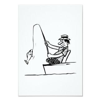 Pesca del hombre del dibujo animado comunicados