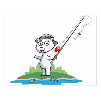Pesca del oso polar postal