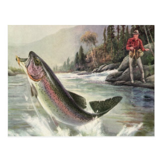 Pesca del pescador de los pescados de la trucha ar