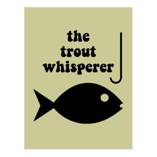 pesca del whisperer de la trucha postal