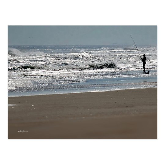 Pesca en agua chispeante postal