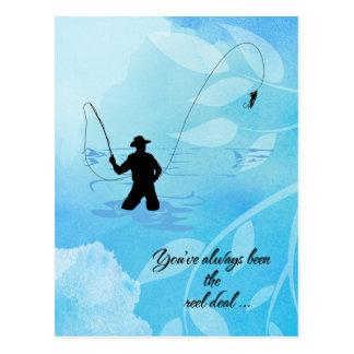 Pescador de la mosca usted ha sido siempre el postal