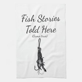Pescador de las toallas de mano de la cocina