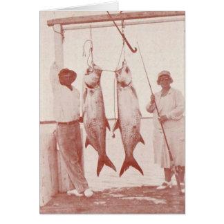 Pescadores con los tarpones, isla de Marco, la Tarjeta De Felicitación