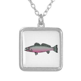 Pescados 2 collar plateado