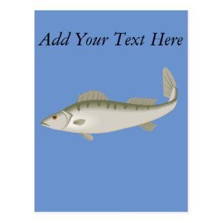 Pescados a pescado que pescan la trucha de Fisher Postal