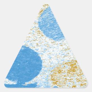 pescados azules pegatina triangular