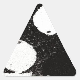 pescados blancos pegatina triangular