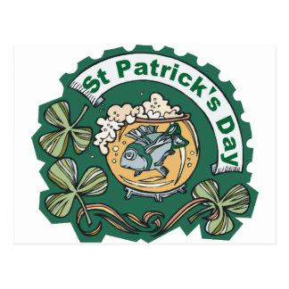 Pescados borrachos del día del St Patricks Postal