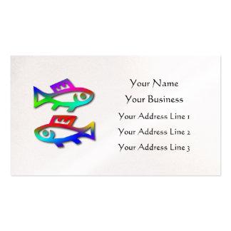 Pescados de arco iris de la muestra de la estrella tarjetas de visita