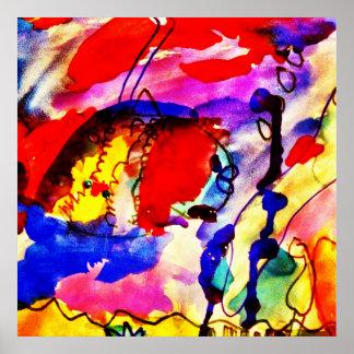 Pescados de arco iris del arte abstracto de los ni impresiones