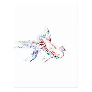 Pescados de arco iris/Goldfish/Koi multicolores de Postal