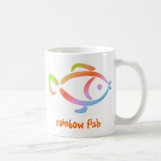 Pescados de arco iris taza de café