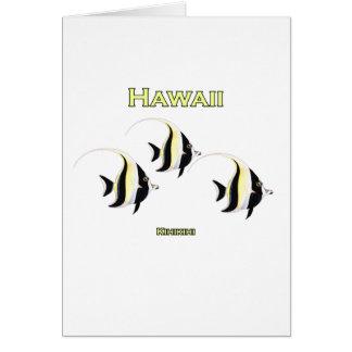 Pescados de Hawaii Kihikihi Tarjeta De Felicitación