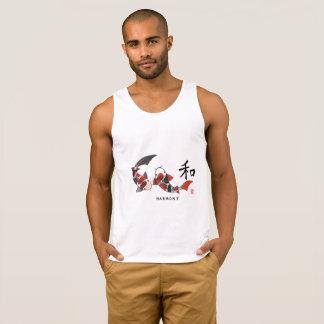 Pescados de Koi con las camisetas sin mangas del