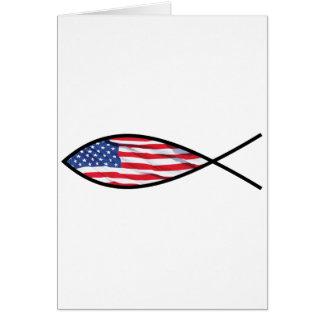 Pescados de la bandera tarjeta de felicitación