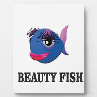 pescados de la belleza placa expositora