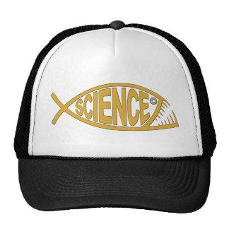 Pescados de la ciencia gorras de camionero