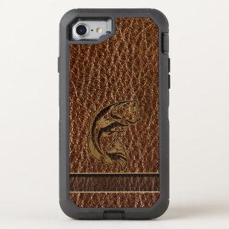 Pescados de la Cuero-Mirada Funda OtterBox Defender Para iPhone 8/7