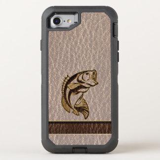 Pescados de la Cuero-Mirada suaves Funda OtterBox Defender Para iPhone 8/7