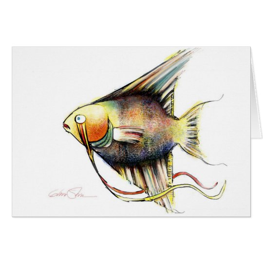 Pescados de la fantasía: Ángel Tarjeta De Felicitación