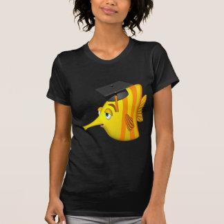 Pescados de la graduación camisetas