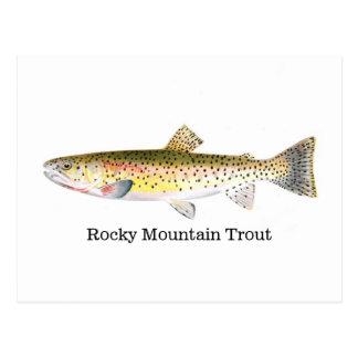 Pescados de la trucha de la montaña rocosa postal
