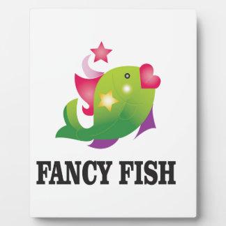 pescados de lujo femeninos placa expositora