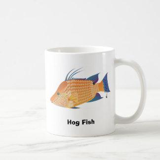 Pescados del cerdo taza de café