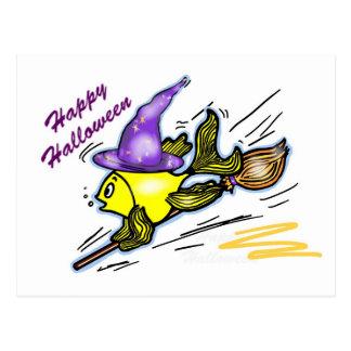 Pescados del mago - dibujo lindo divertido postal