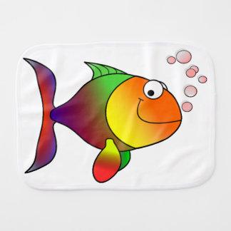 Pescados divertidos lindos - coloridos paños para bebé