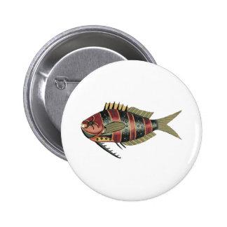 Pescados divertidos rayados chapa redonda de 5 cm