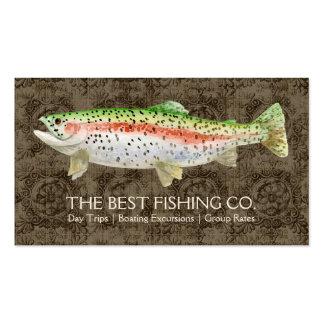 Pescados exclusivos del negocio de la guía del bar tarjetas de visita
