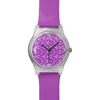 Pescados, orquídea y violeta modernos de los relojes de mano