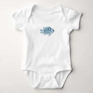 Pescados rayados azules del filón (sargento body para bebé