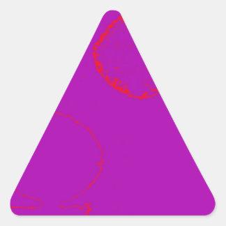 pescados rojos pegatina triangular
